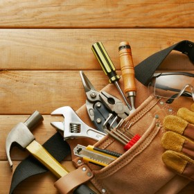 hand-tools-safety-glasses-wooden-floor
